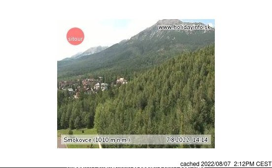 Starý Smokovec webcam at lunchtime today