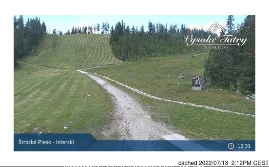 Štrbské Pleso webcam at lunchtime today