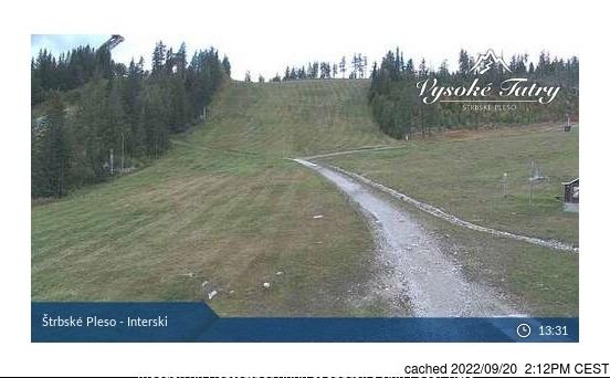 Štrbské Pleso webcam at 2pm yesterday