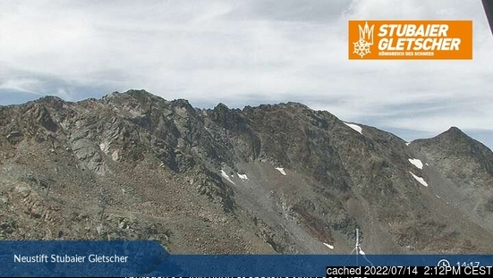 Stubai Glacier webcam at lunchtime today