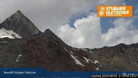 Stubai Glacier webcam all'ora di pranzo di oggi