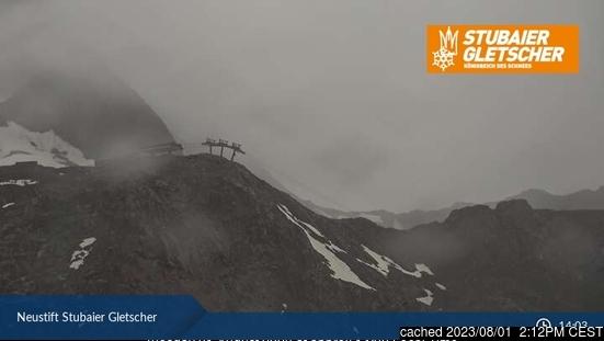 Stubai Glacier webbkamera vid kl 14.00 igår
