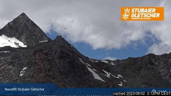 Stubai Glacier webcam om 2uur s'middags vandaag
