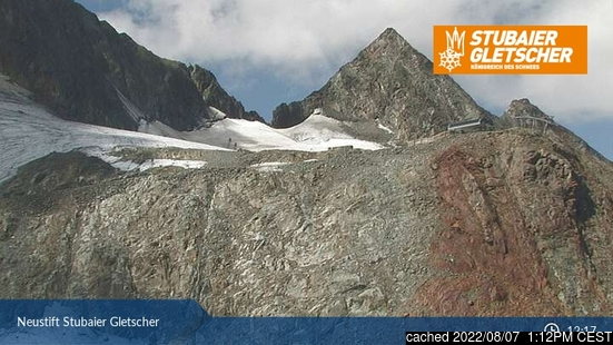 Live Snow webcam for Stubai Glacier