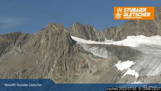 Live snöwebbkamera för Stubai Glacier