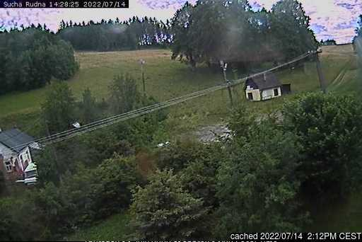 Suchá Rudná - Andělská hora (Annaberg) webcam at 2pm yesterday