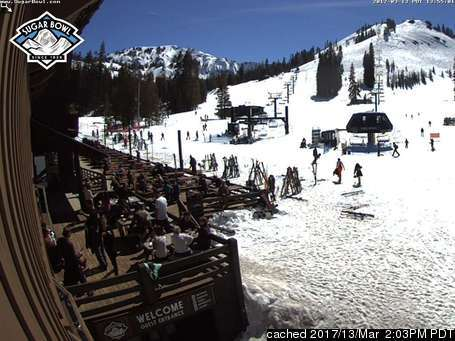Sugar Bowl webcam at lunchtime today