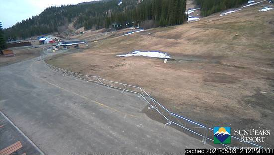 Sun Peaks webcam at lunchtime today