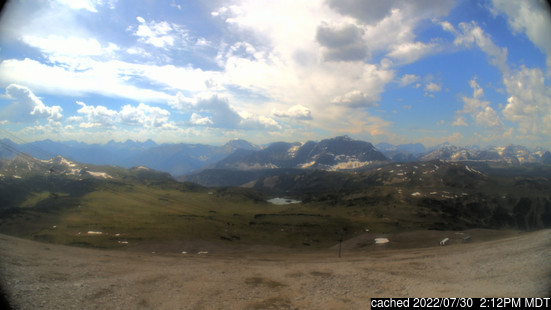 Live Snow webcam for Sunshine Village