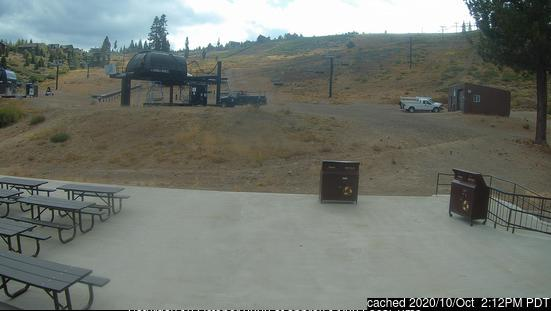 Tahoe Donner webcam at lunchtime today