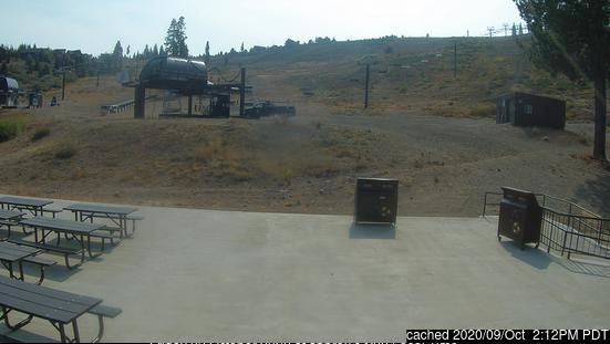 Tahoe Donner webcam at 2pm yesterday