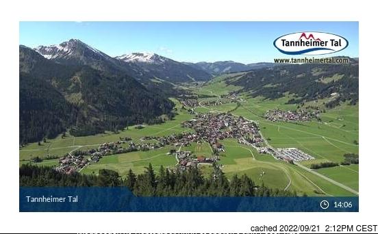 Tannheim/Neunerköpfle webcam at lunchtime today