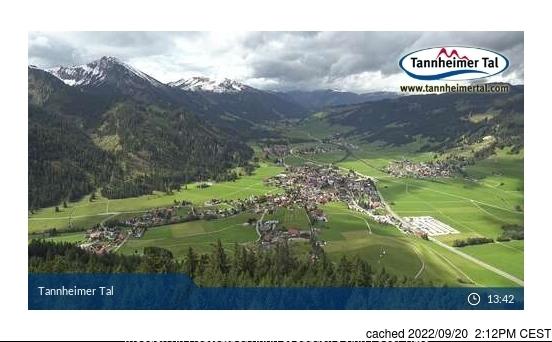 Tannheim/Neunerköpfle webcam at 2pm yesterday