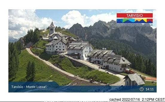 Tarvisio webcam at 2pm yesterday