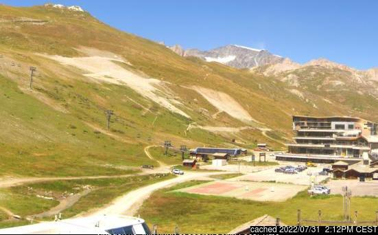 Tignes webcam at lunchtime today