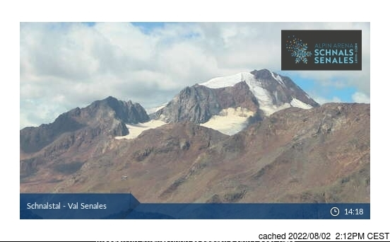 Val Senales (Schnalstal) webcam at lunchtime today