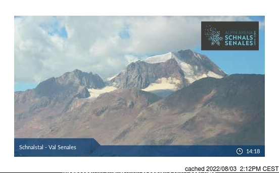 Val Senales (Schnalstal) webcam at 2pm yesterday