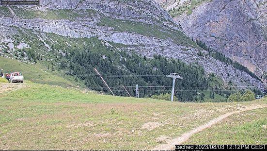 Webcam de Val d'Isere à midi aujourd'hui