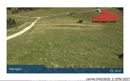 Val di Fiemme-Obereggen webkamera ze včerejška ve 14 hod.