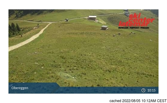 Live Snow webcam for Val di Fiemme-Obereggen