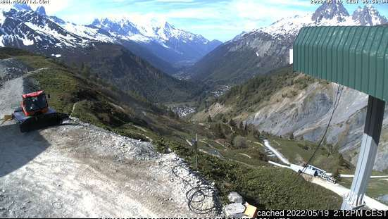 Vallorcine webcam at lunchtime today