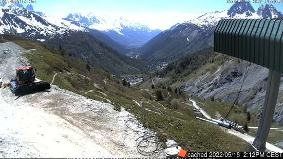 Vallorcine webcam at 2pm yesterday