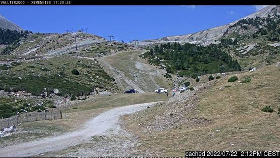 Vallter 2000 webcam at lunchtime today