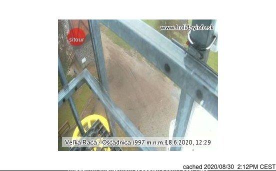 Veľká Rača - Oščadnica webcam at lunchtime today