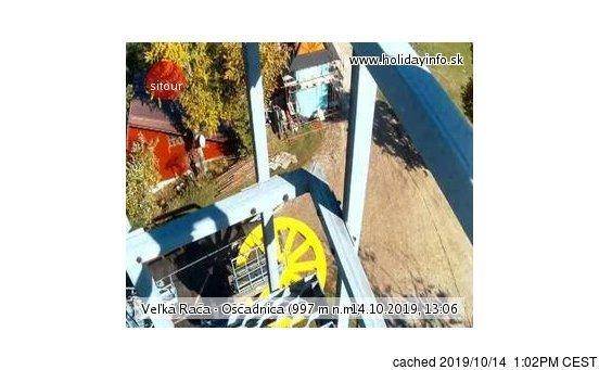 Veľká Rača - Oščadnica webcam at 2pm yesterday