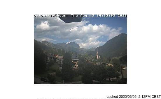Vigo di Fassa webcam at lunchtime today