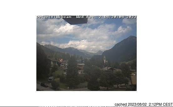 Vigo di Fassa webkamera ze včerejška ve 14 hod.