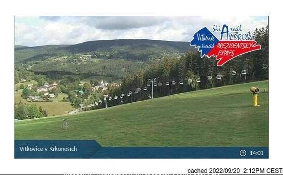 Vítkovice - Aldrov webcam at 2pm yesterday