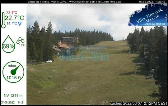 Vlašić webcam at 2pm yesterday