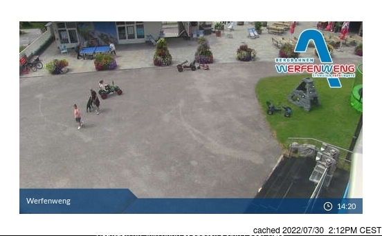 Werfenweng webcam at lunchtime today
