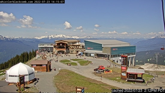 Whistler webcam at 2pm yesterday