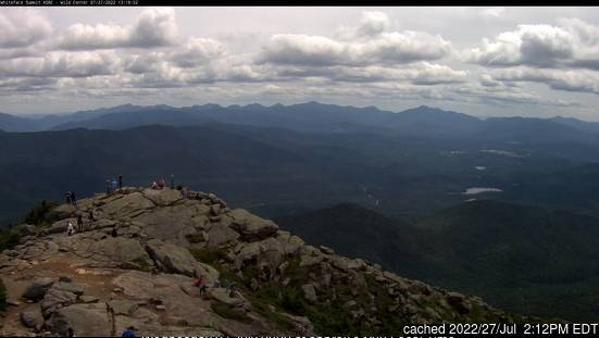 Whiteface Mountain (Lake Placid) webcam at 2pm yesterday