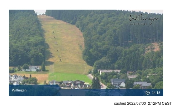 Willingen-Upland webcam at lunchtime today