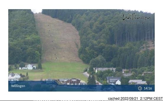 Willingen-Upland webcam at 2pm yesterday
