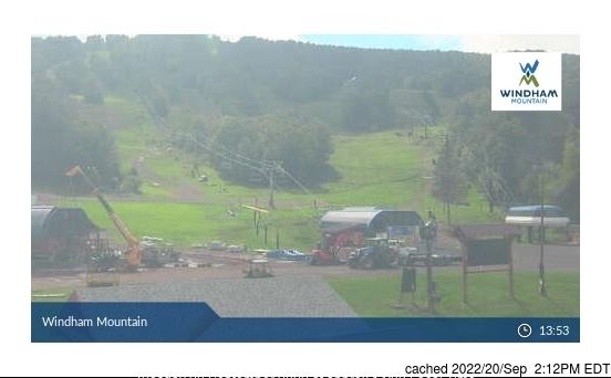 Bugün akşam yemeğinde Windham Mountain'deki webcam