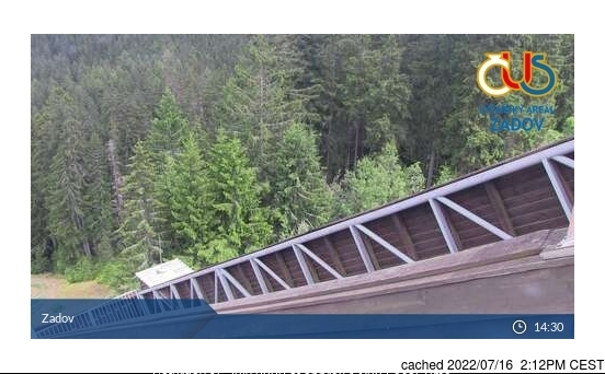 Zadov webcam at lunchtime today