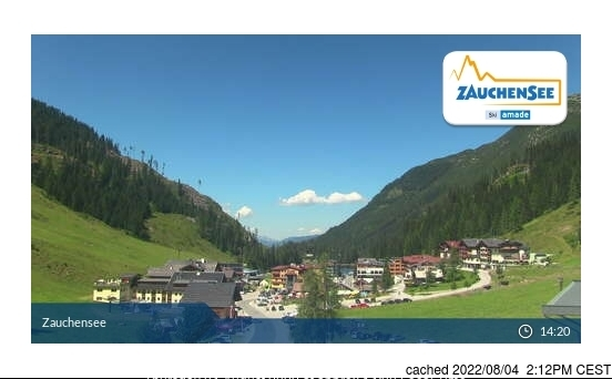 Zauchensee webcam at 2pm yesterday