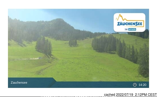 昨日午後2時のZauchenseeウェブカメラ