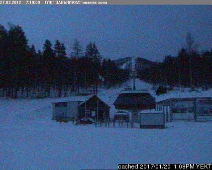 Zavjalikha webcam at 2pm yesterday