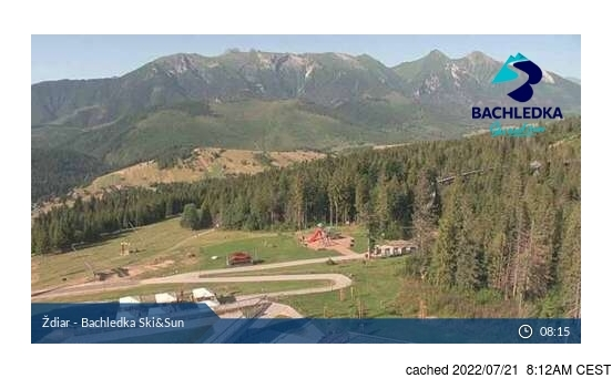 Live Snow webcam for Ždiar - Bachledova Dolina