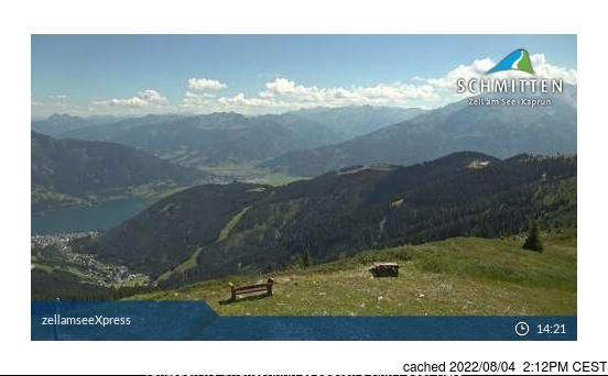 Zell am See webcam at 2pm yesterday