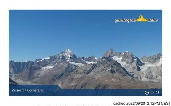 Webcam de Zermatt à 14h hier