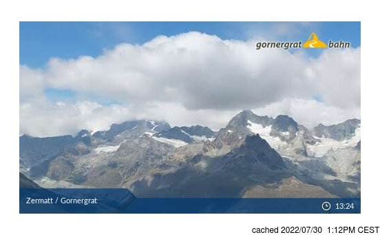 Live Snow webcam for Zermatt
