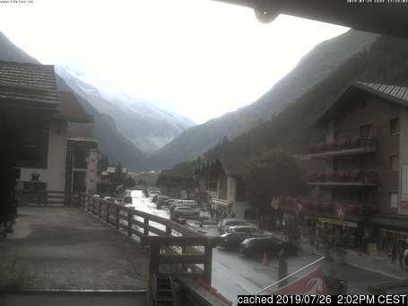 Zinal webcam at lunchtime today