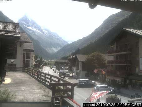 Zinal webcam at 2pm yesterday