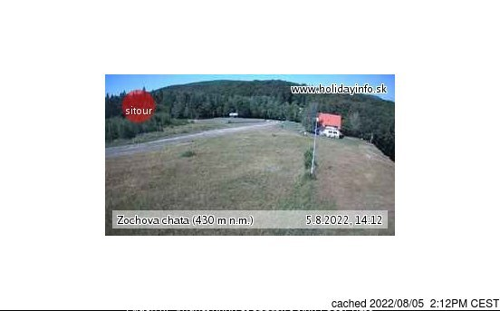 Zochova chata - Piesok webcam at 2pm yesterday